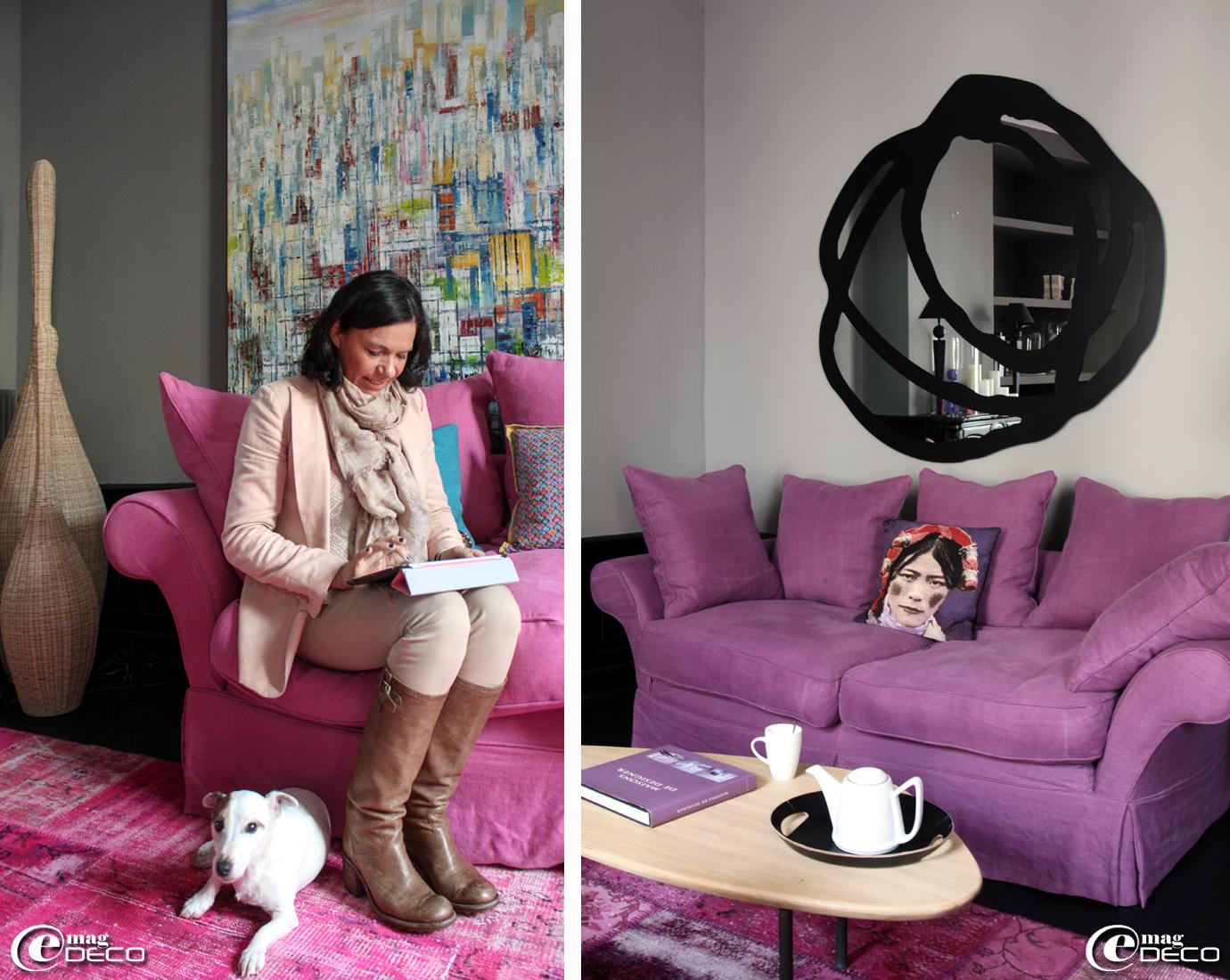 Miroir 'Sweet' de Paola Navone pour 'Gervasoni'
