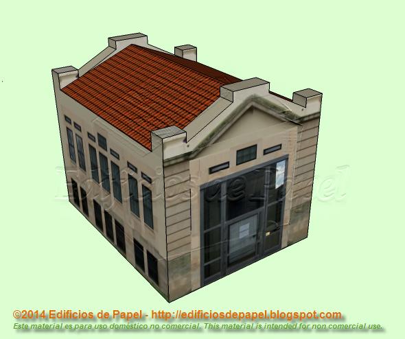 Maqueta de papel de un edificio del Campus Universitario de Ourense