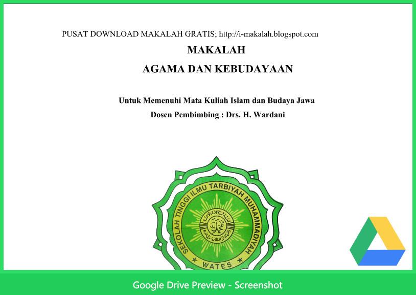 Contoh Makalah Budaya Agama Dan Kebudayaan Berkas Kurikulum 2013