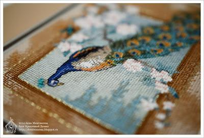 Dimensions Beautiful Bird оформление вышивки