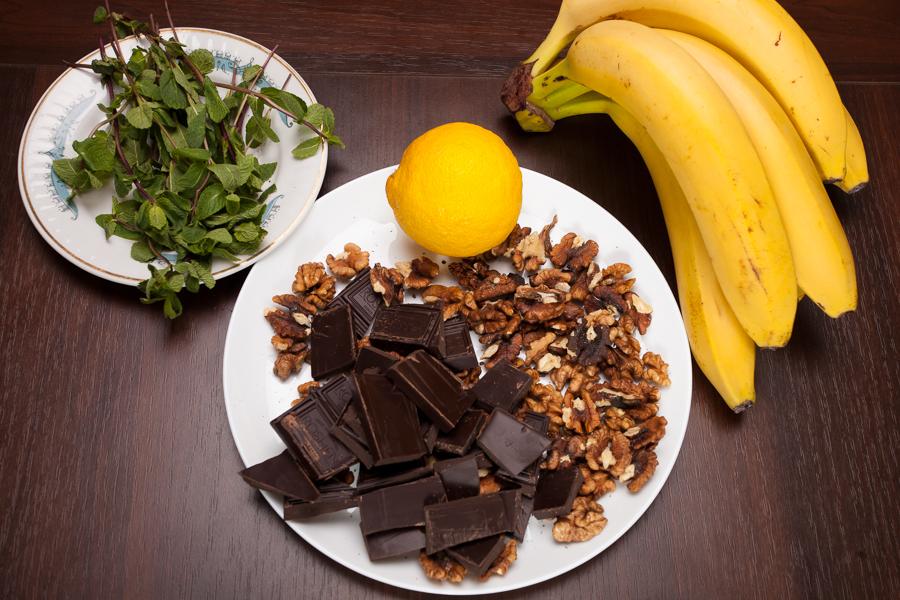 Ингредиенты; Бананы с шоколадом
