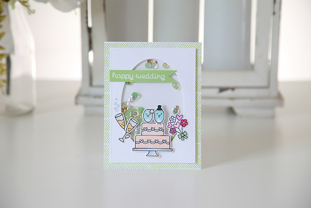 Lawn Fawn Inspiration Week--Happy Wedding