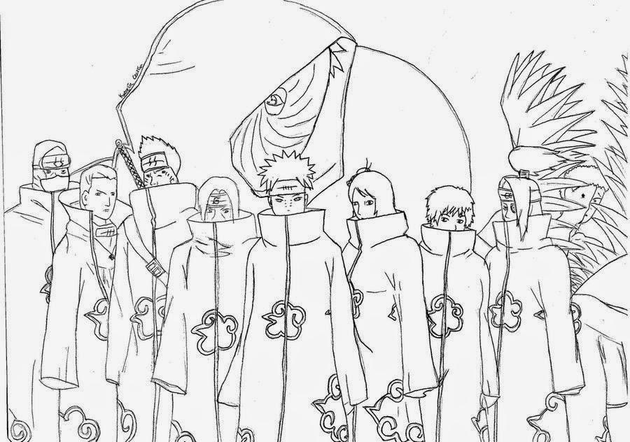 Naruto Kyuubi Martina Jirakova additionally 100 Dot To Dot also Akatsuki Coloring Book furthermore dibujanime also Dragon Ball Z Desenhos Para Imprimir Colorir E Pintar Do Goku Goham Vegeta E Os Saiyajin. on naruto shippuden ideas