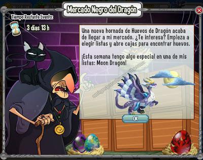 imagen del dragon moon o dragon luna en ele mercado negro del dragon