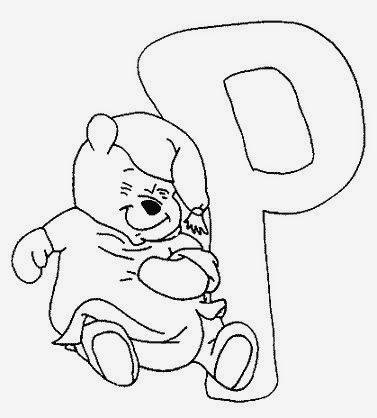 alfabeto com a turma do ursinho puff