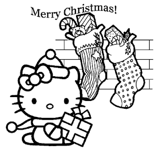 Hello Kitty Gift For Christmas Printable Kids Coloring Pages