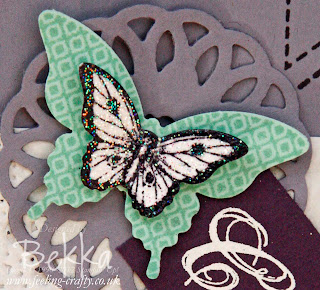 Butterfly Celebrations by Stampin' Up! Demonstrator Bekka Prideaux - love the butterflies on this card