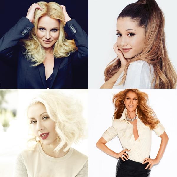 Ariana Grande imitó a Britney Spears, Christina Aguilera y Celine Dion