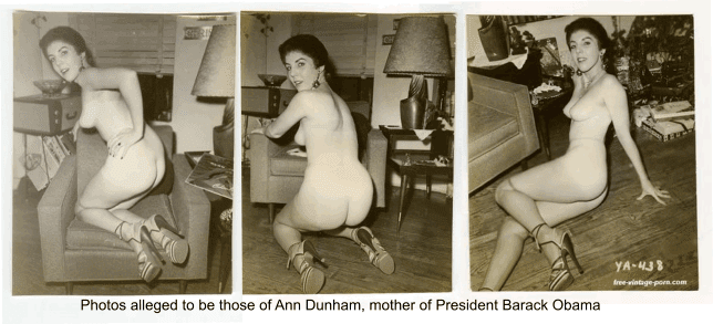 Obamas mother nude