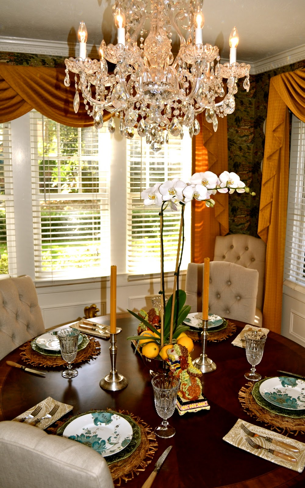 Beaux Mondes Designs A Fall Asian Inspired Setting For A