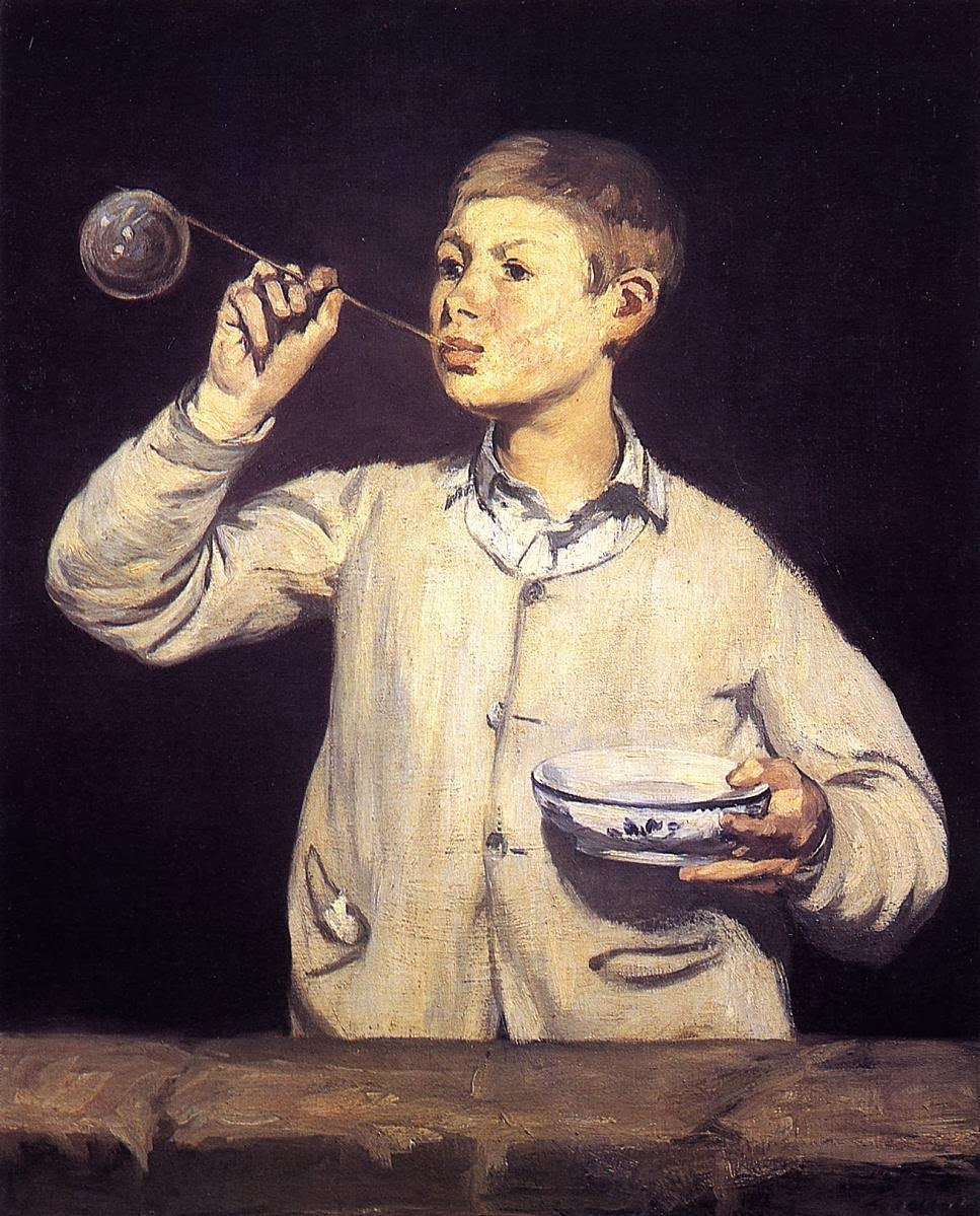Boy Blowing Soap Bubbles Manet Boy Blowing Bubbles 1867