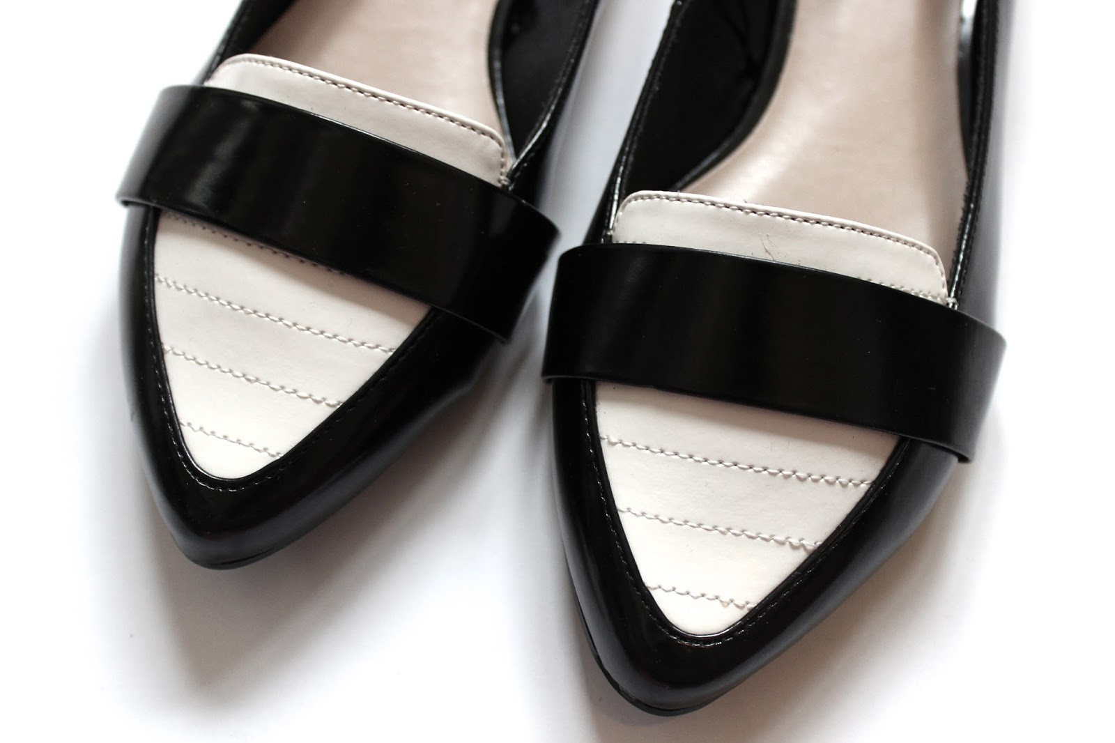 Close up of monochrome pumps