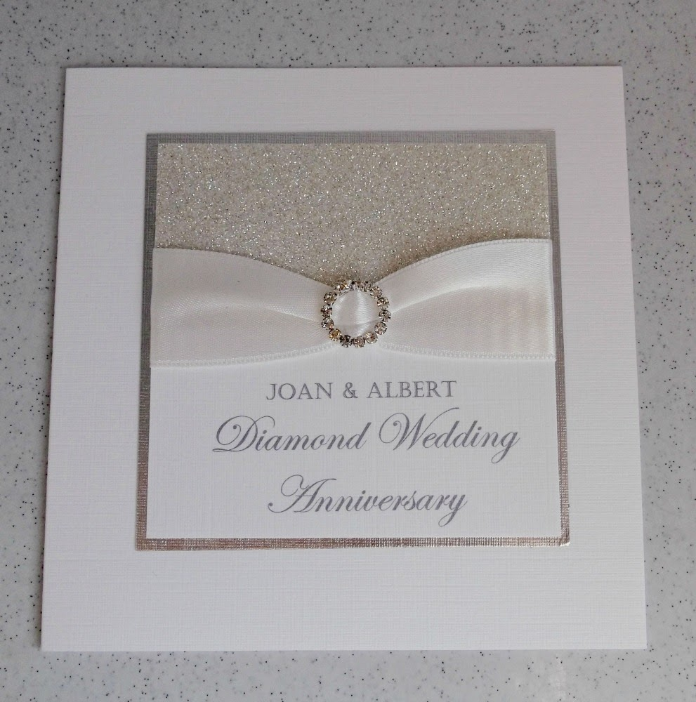 Paper daisy cards diamond wedding anniversary invitations - Wedding anniversary invitations ...