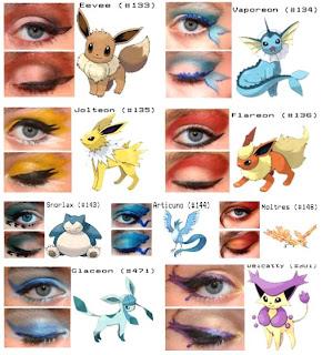 Pokemon Eye Makeup from GoGeekChic