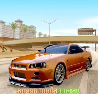 [Mod GTA SA] Nissan Skyline R34 1