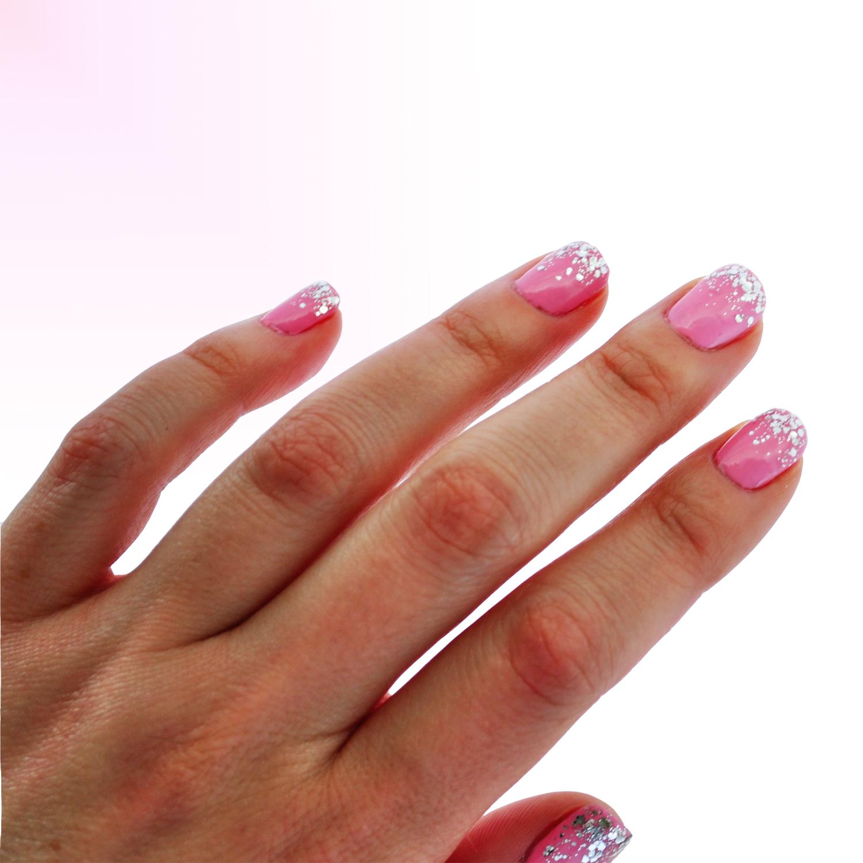Bubble Gum Nail Art: Ditty Drops: Confetti Bubblegum Nail Art