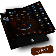 Next Launcher Theme RubberOrange!!
