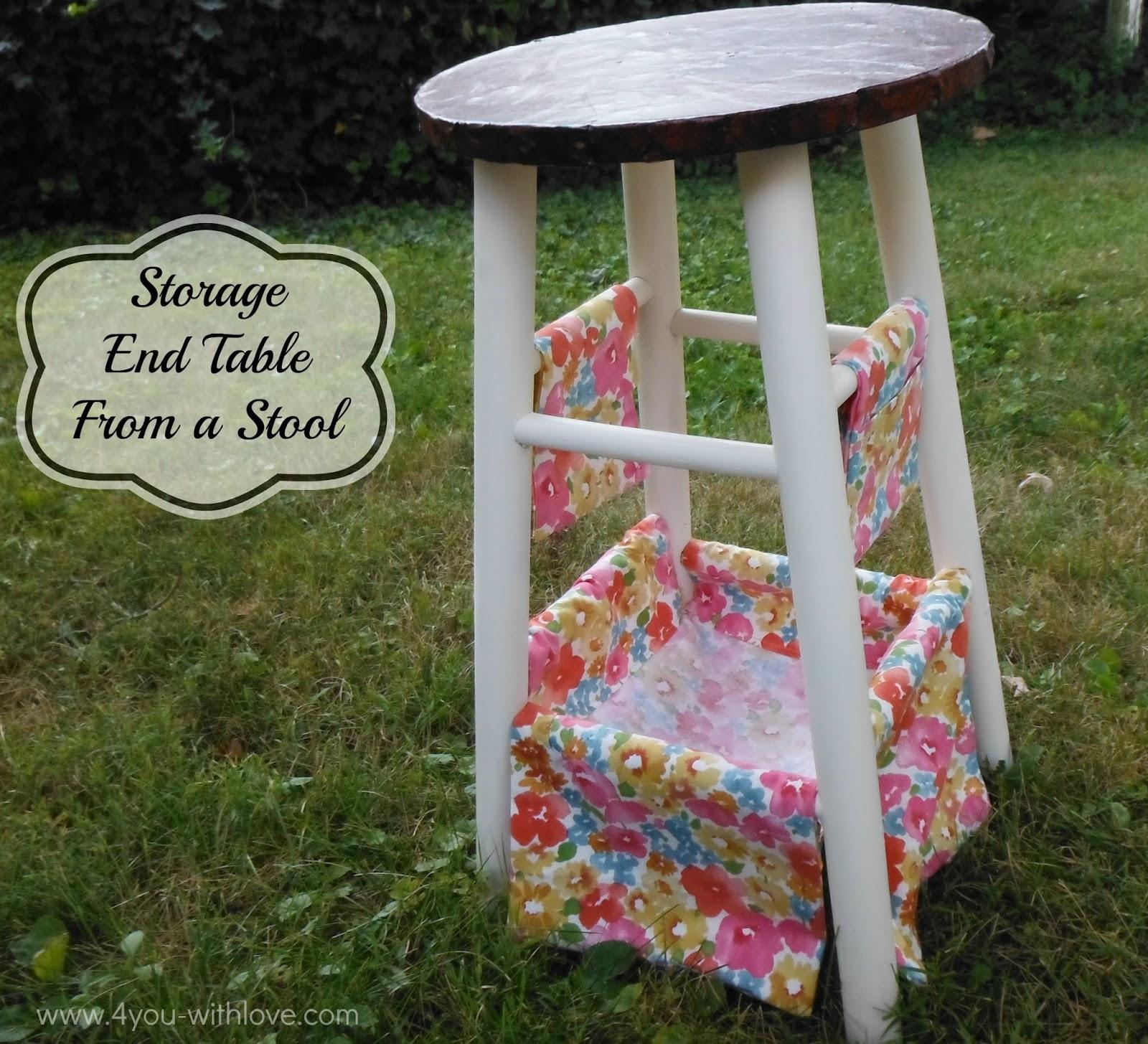 #WaverizeIt Challenge Project u2013 Stool End Table w/Storage! & WaverizeIt Challenge Project - Stool End Table w/Storage! - 4 You ... islam-shia.org