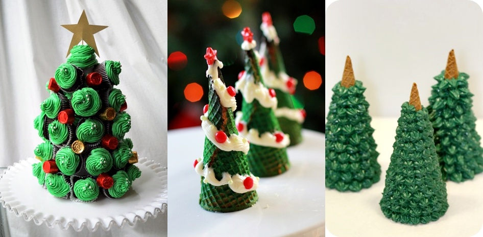 The cupcake tree looks delicious! And how about the green Christmas ...