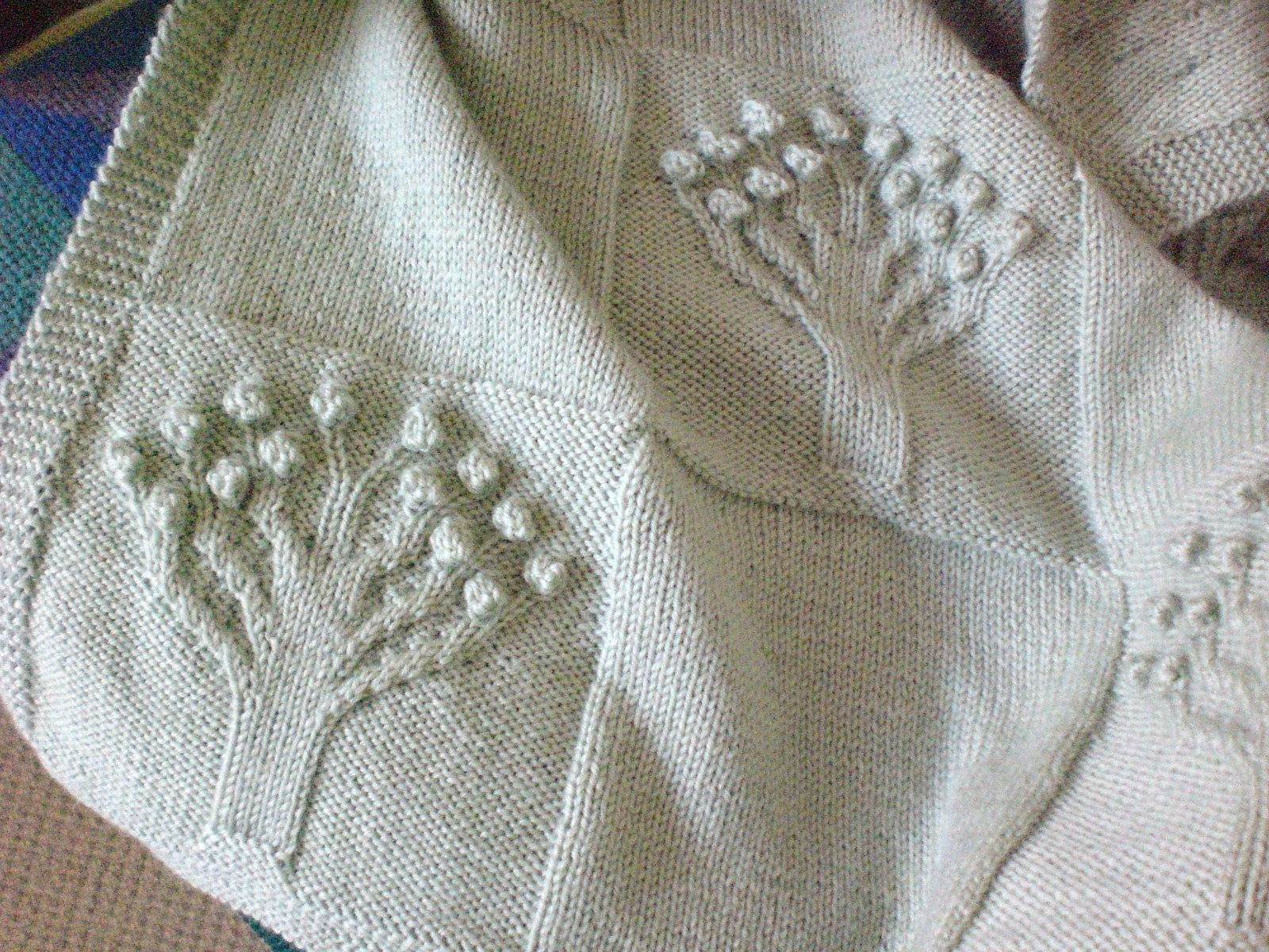 Fionas Knitting: Apple Tree Blanket
