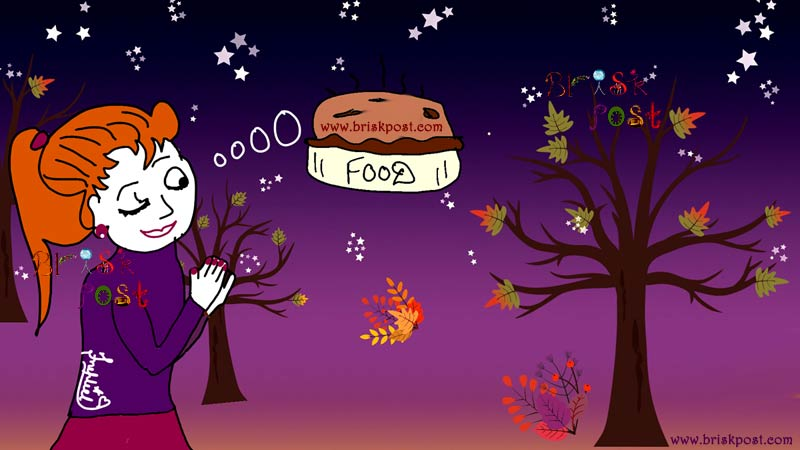 Clip art of a girl joining hands in fast and thinking of food | 8 fasting or dieting results: Is fast good or bad for your health?