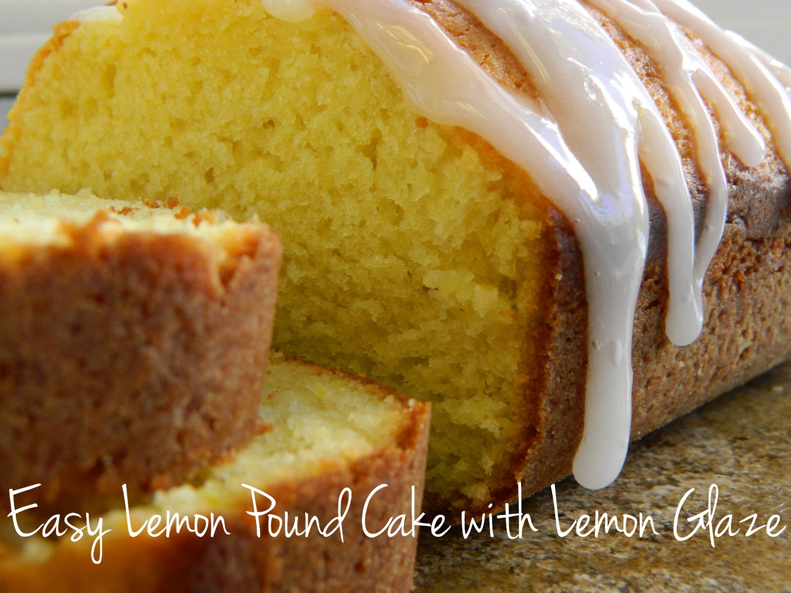 Lemon Glaze For Pound Cake Using Lemon Extract
