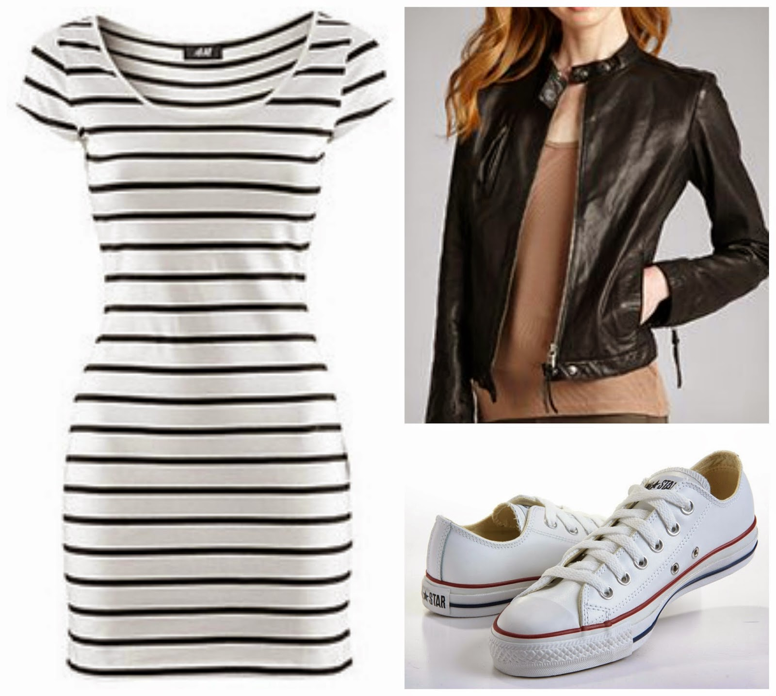 striped dress moto jacket converse