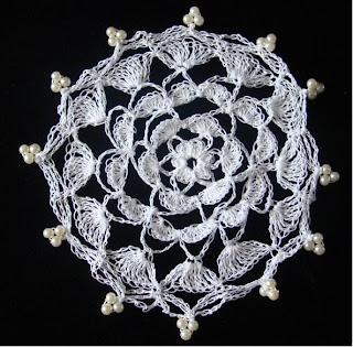 Flower Petals Crochet Milk Jug Cover Pattern