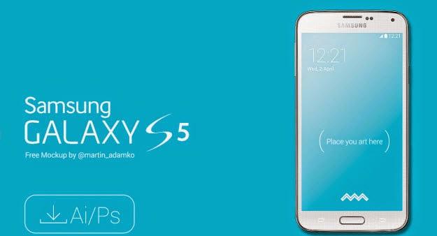 Samsung Galaxy S5 Mockups