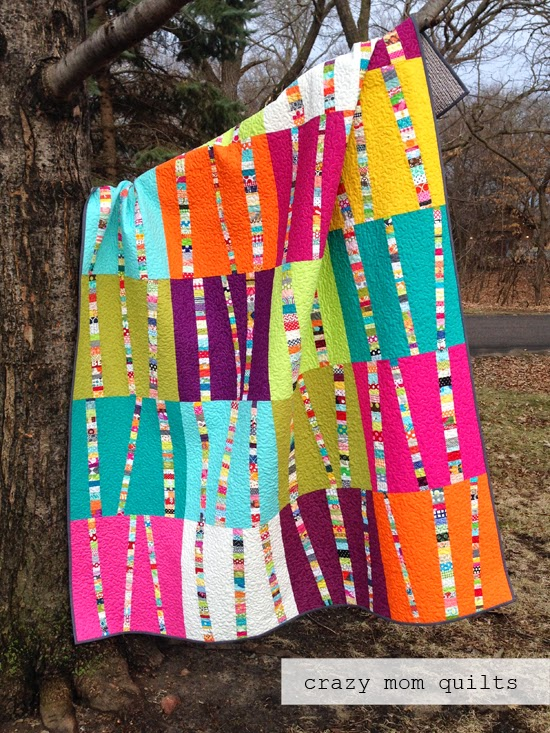 crazy mom quilts: bright birch trees redux complete : bright quilts - Adamdwight.com