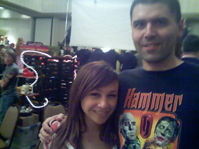 Me with Danielle Harris (in 2010)