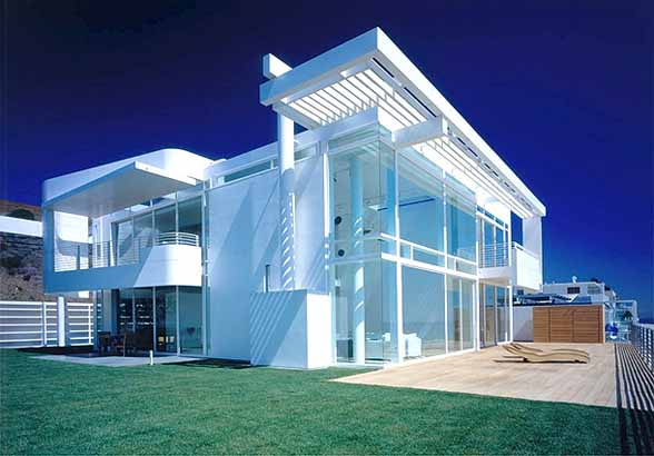 White Beach House Simple Of Southern California Beach House Richard Meier Photo