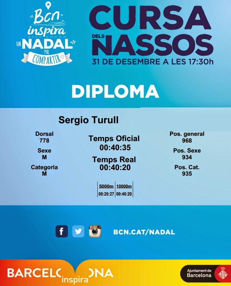 diploma cursa dels nassos barcerlona 2014