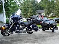 Moto con remolque en multas de tráfico