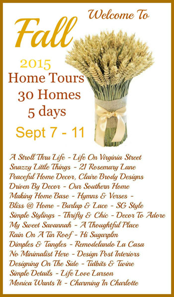2015 Welcome To Fall Home Tours