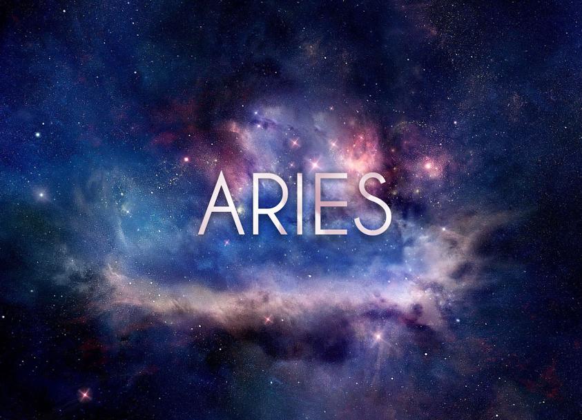Wallpaper Signo Aries en el espacio