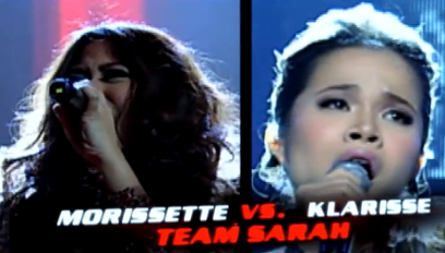 Morissette Amon and Klarisse de Guzman - Team Sarah of The Voice of the Philippines