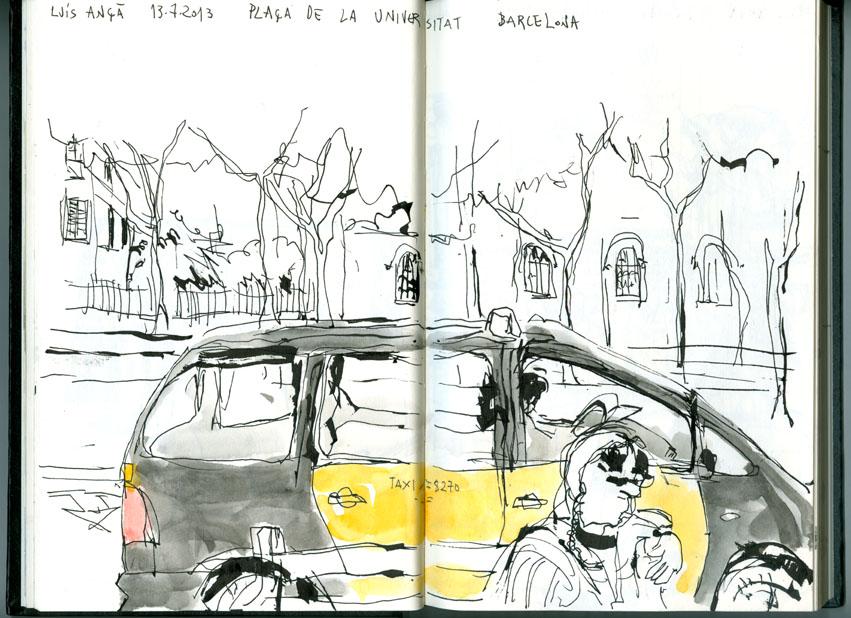 Desenhos de lu s an pla a de la universitat barcelona - Placa universitat barcelona ...