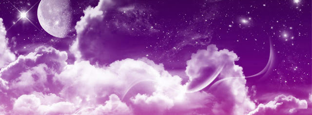 Purple Sky With White Clouds