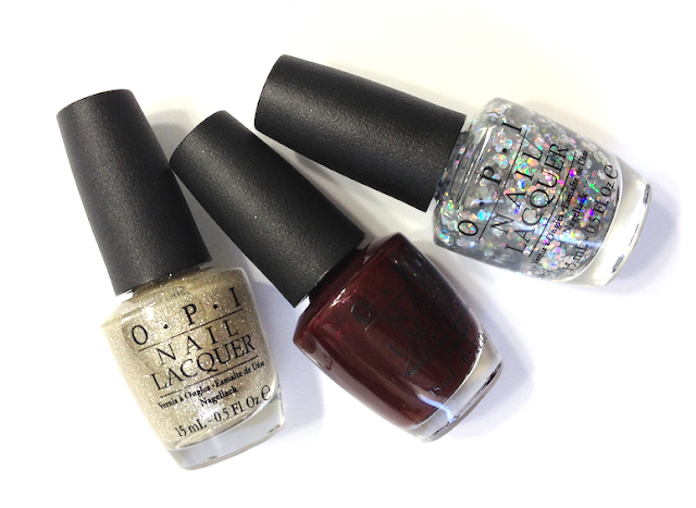 OPI Holiday 2013 Mariah Carey - The Look: My Favorite Ornament, Visions of Love, I Snow You Love Me