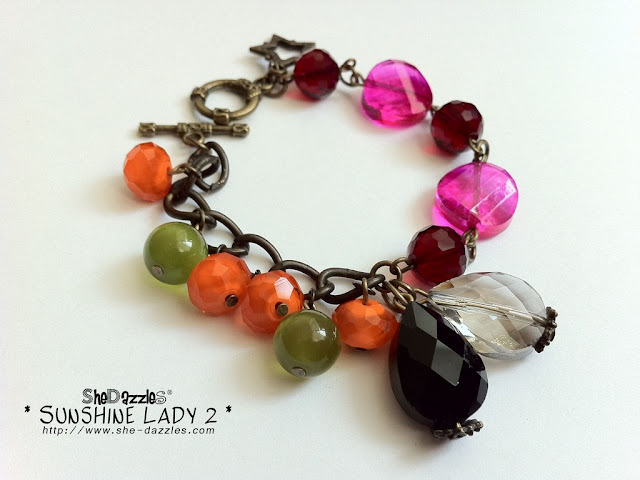 ar264-pink-orange-charm-bracelet-sunshine-lady