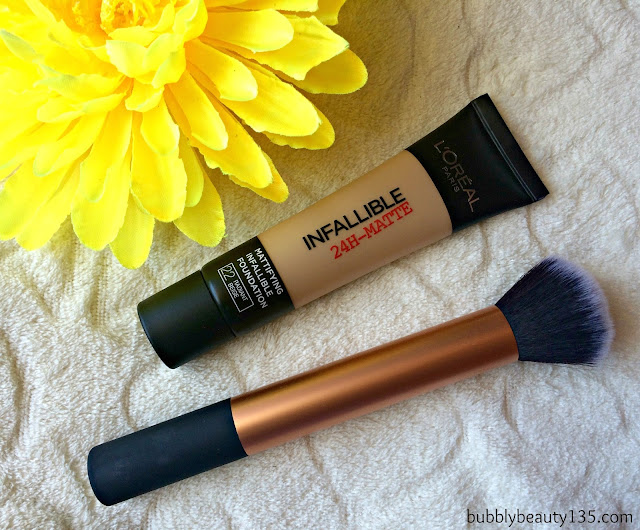 Review : Infallible 24h - Matte Foundation by L'oreal | www.bubblybeauty135.com