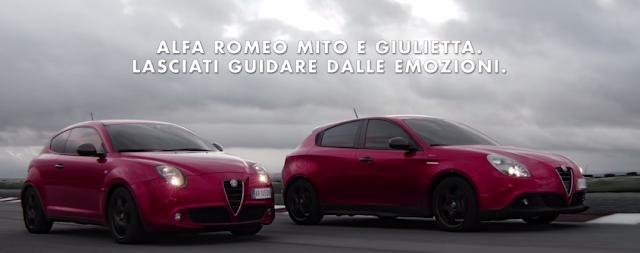 Canzone pubblicità Alfa Romeo 2015, Giulietta e Mito