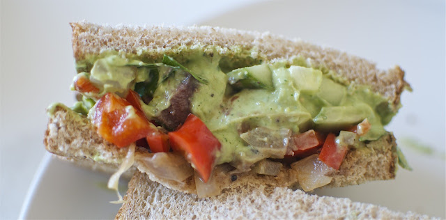 Tri-Tip Avocado Sandwich with Chimichurri Sauce