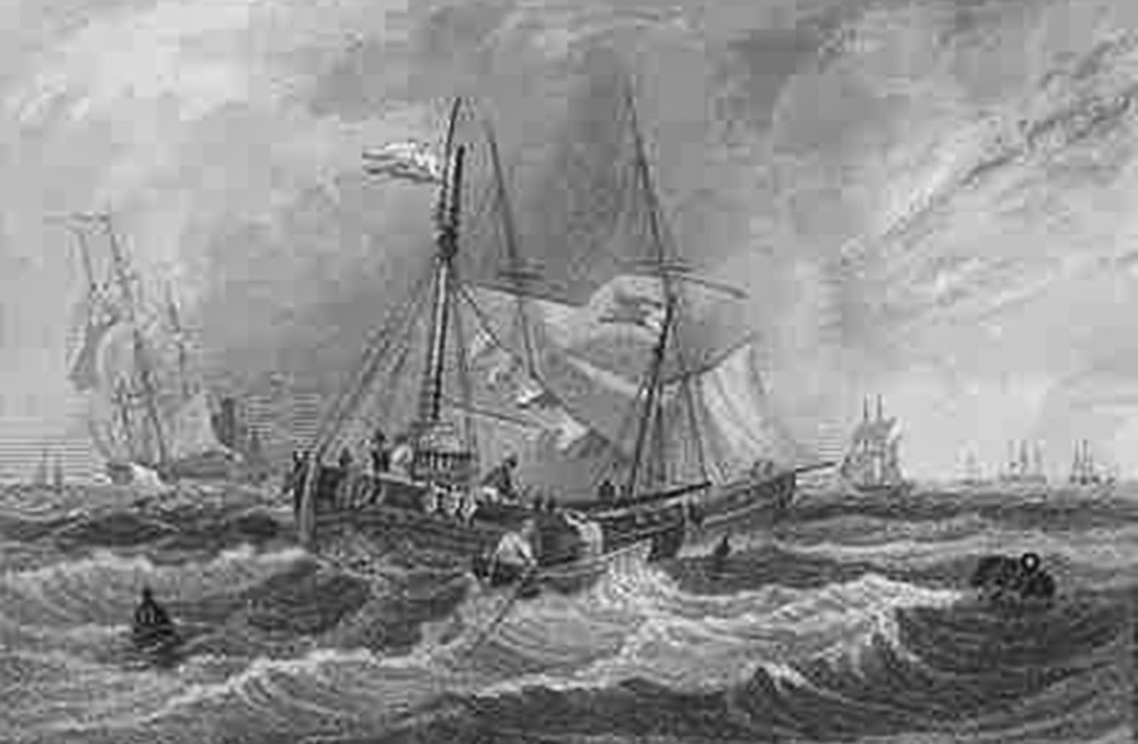 Rock Hard Buoy Simply Forgot Us War Pirate Ship Likewise Rms Titanic Sinking On Tall Diagram Kent England Tombleson Engraving 1840 Barrel