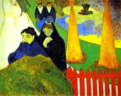 Dones en el jardí de l'hospital (Paul Gauguin)