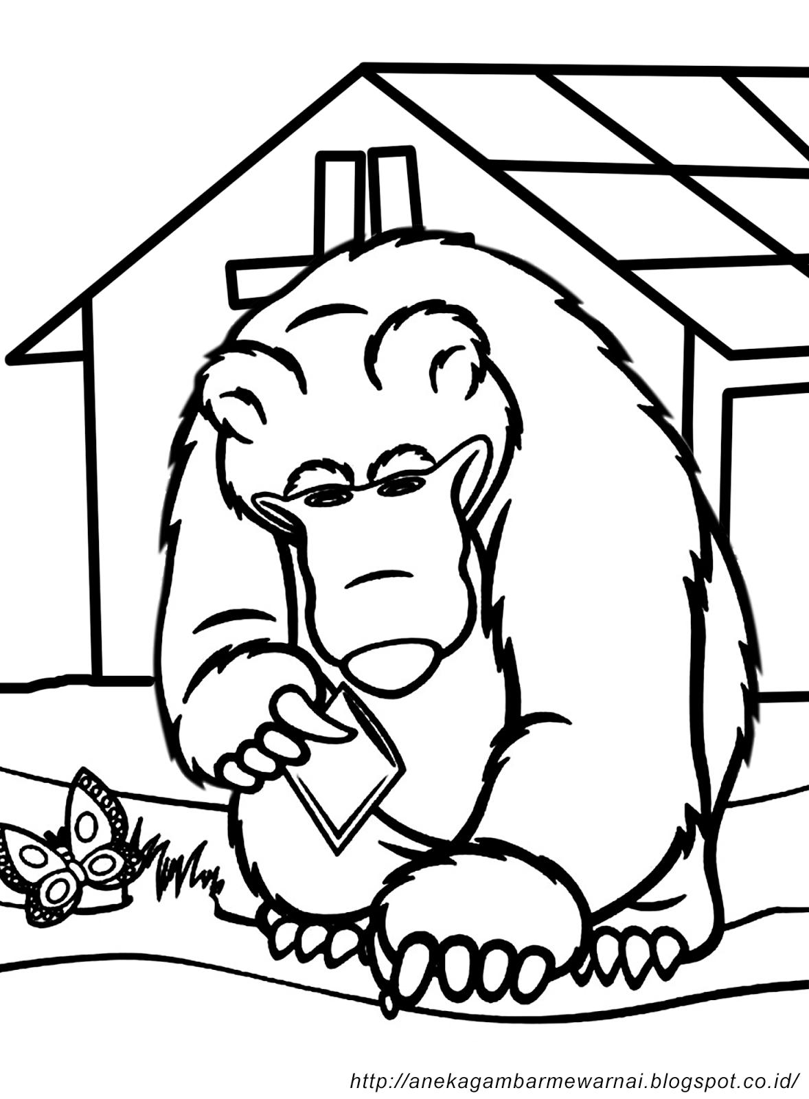 Gambar Mewarnai Masha And The Bear Untuk Anak Paud Dan Tk