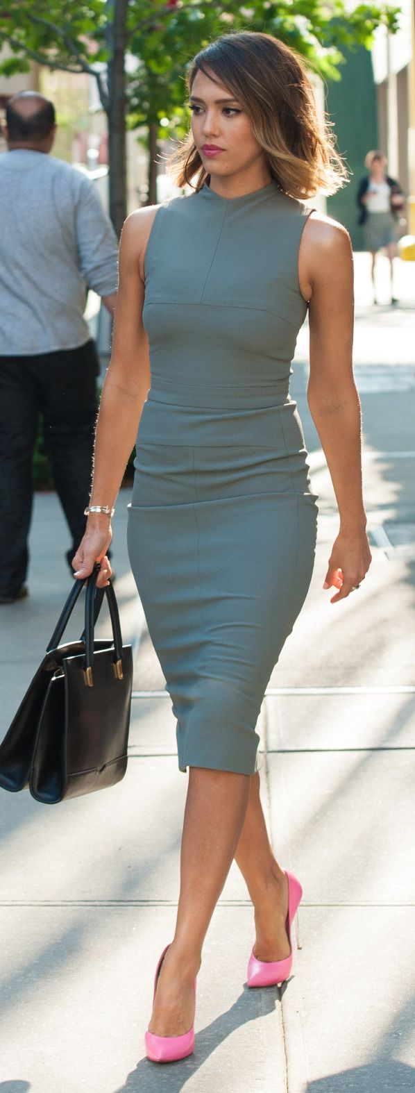 Blue ombre style dress