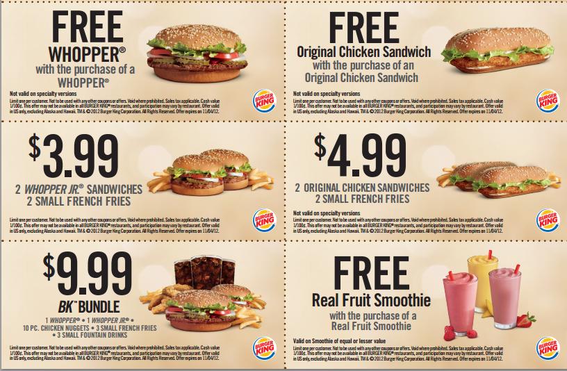 Burger king canada coupons may 2018