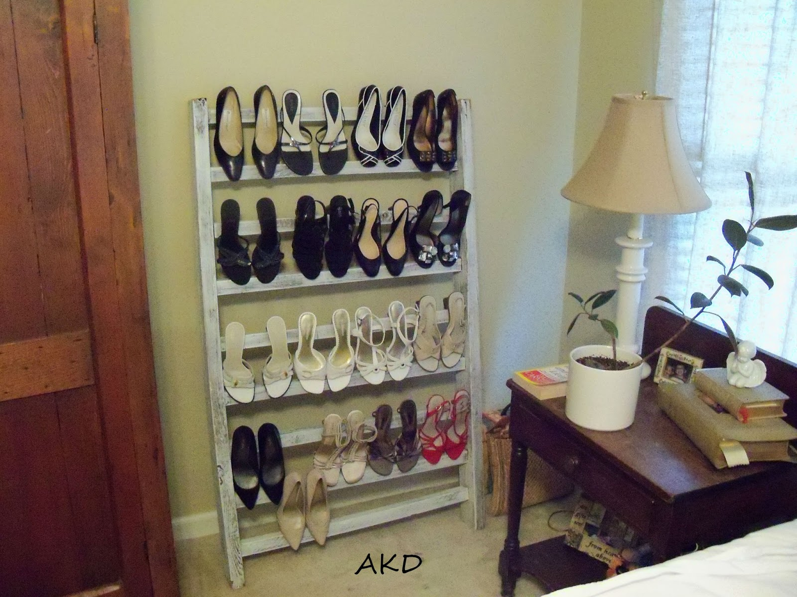 diy shoe rack for a small space